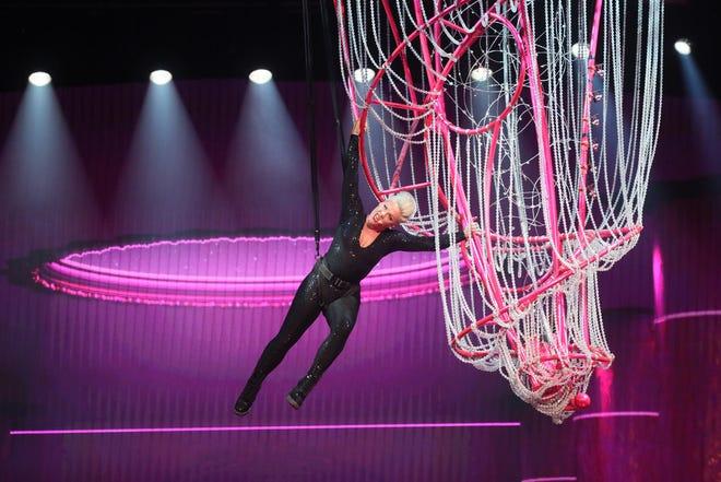 Pink performs at Fiserv Forum.