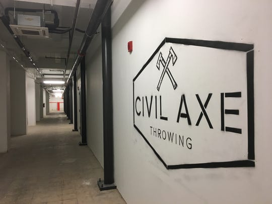 Civil Axe Throwing opened Friday in the basement of downtown Montgomery's Kress building.