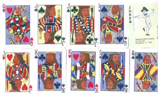 Playing cards designed by Fishoe, who put himself as the joker.
