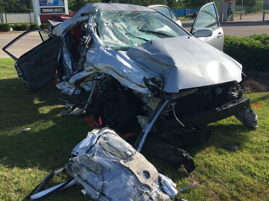 Scene of the wreck in Prattville.