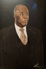 Fishoe portrait of E.D. Nixon at the Alabama Department of Archives and History.