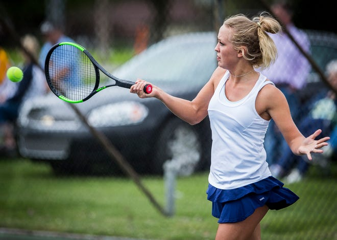 FILE -- Delta girls tennis finished the regular season with just one loss.