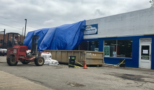 La Esquina Market, 1156 E. Main St. in downtown Murfreesboro, was damaged when a driver plowed into the building months ago.