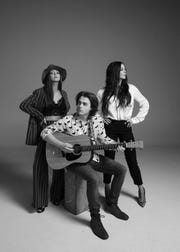 The Barker Family Band will play City Winery on May 18. From left are Olivia Barker, Avery Barker and Sara Evans.
