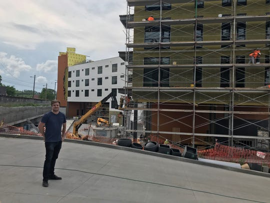 Justin Koziol, chief operating officer of Bento Box, at the Chestnut Hill project site
