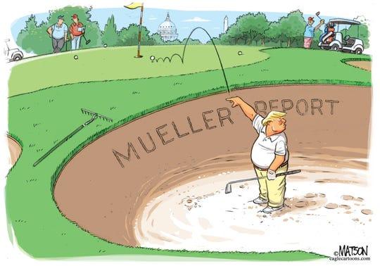 trump in mueller sand trap