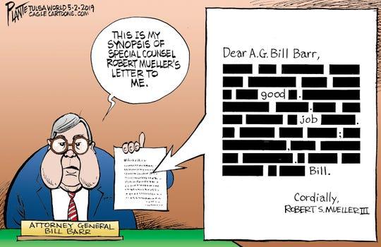 Mueller's letter to Barr, Attorney General William P. Barr, Senate Judiciary Committee on Robert S. Mueller III's report, President Donald J. Trump, Mueller Report