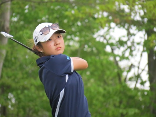 Junior Yoona Kim led Immaculate Heart to the title at the Big North Conference Girls Golf Championship at Valley Brook Golf Course in River Vale on Thursday, May 2, 2019.