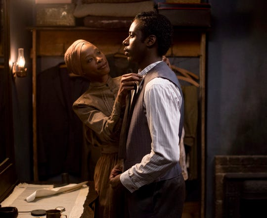 "This image released by Abramorama shows Karimah Westbrook portraying Alice Bolden, left, and Gary Carr portraying jazz pioneer Charles ""Buddy"" Bolden in a scene from ""Bolden,"" in theaters on Friday, May 3, 2019."