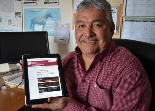 Gerald Moore, coordinating extension agent for the Navajo Nation with the University of Arizona, spearheaded the project to have an online database for rangeland plants found on the Navajo Nation.
