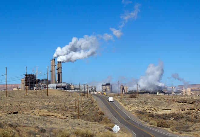 San Juan Generating Station is pictured on Friday, Dec. 22, 2017 in Waterflow.