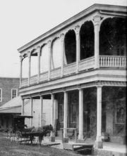 Bloch Corner pictured during the 1890s on the northwest corner of Main and Bellevue streets in downtown Opelousas. This was the store of Joseph Bloch that occupied that spot for four decades during the 19th century.
