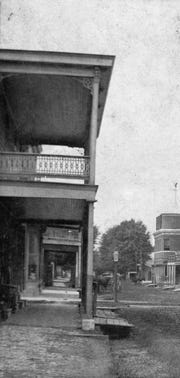 Jacobs Corner picture during the 1890s on the northeast corner of Main and Bellevue streets in downtown Opelousas. This was the store of Solomon Jacobs that occupied that spot for several decades during the 19th century.