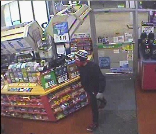 Oshkosh police are looking for a man they say robbed a business at knife point early Friday, May 3, 2019, in the 500 block of Ohio Street.