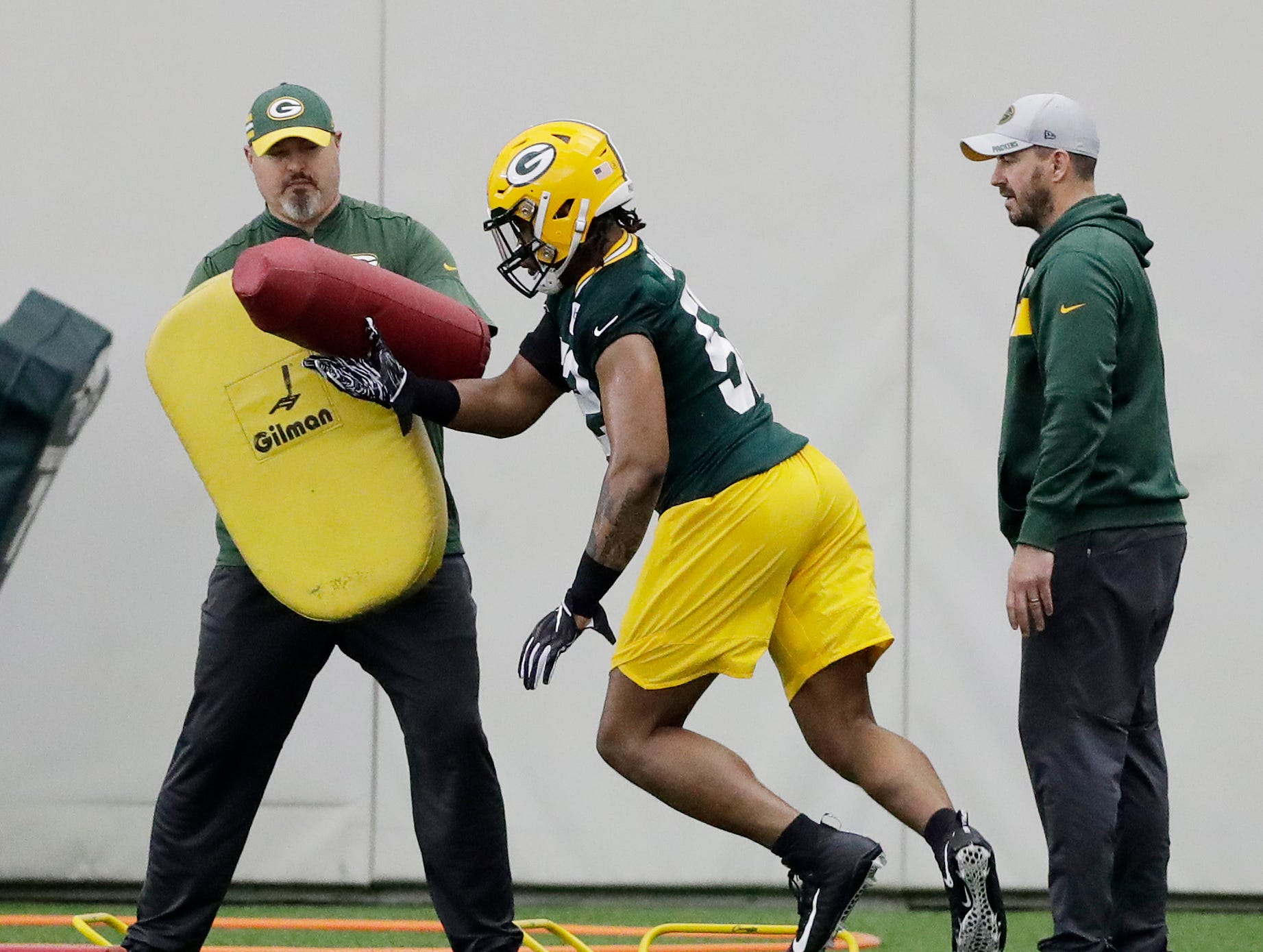 Green Bay Packers linebacker Rashan Gary (52) during practice at rookie minicamp at the Don Hutson Center on Friday, May 3, 2019 in Ashwaubenon, Wis.Adam Wesley/USA TODAY NETWORK-Wis