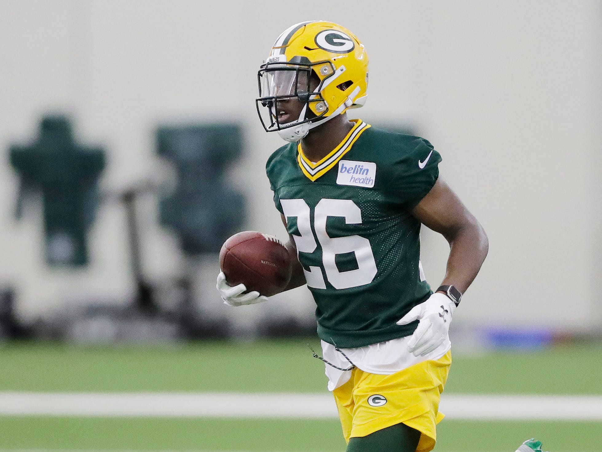 Green Bay Packers safety Darnell Savage (26) during practice at rookie minicamp at the Don Hutson Center on Friday, May 3, 2019 in Ashwaubenon, Wis.Adam Wesley/USA TODAY NETWORK-Wis
