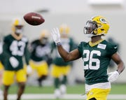 Packers safety Darnell Savage practices during rookie minicamp Friday at The Don Hutson Center in Ashwaubenon.