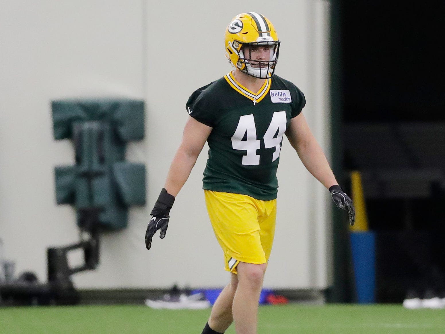 Green Bay Packers linebacker Ty Summers (44) during practice at rookie minicamp at the Don Hutson Center on Friday, May 3, 2019 in Ashwaubenon, Wis.Adam Wesley/USA TODAY NETWORK-Wis