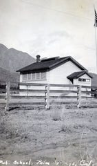 First school in Palm Springs located at the intersection of Andreas and Indian Canyon