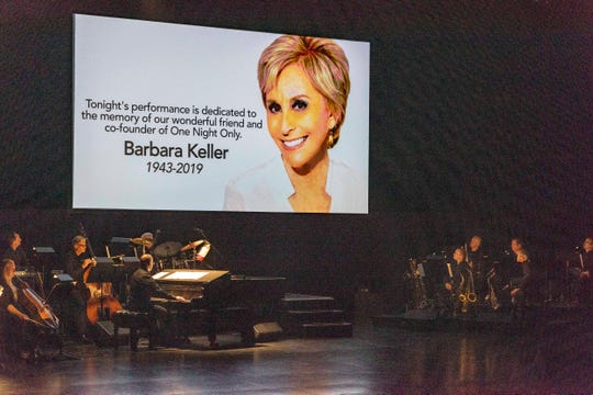 """This year's """"One Night Only"""" performance was dedicated to the memory of Barbara Keller."""