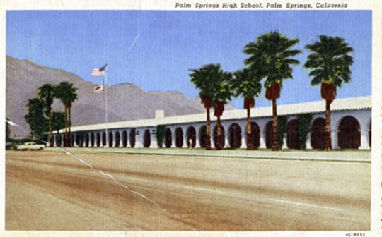 Postcard of Palm Springs High School c.1950s