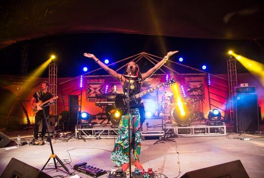 Fatoumata Diawara at the Joshua Tree Music Festival in fall 2018