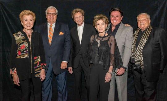 From left: Barbara Fromm, John Thoresen, Barry Manilow, Terri Ketover, Garry Kief and Harold Matzner