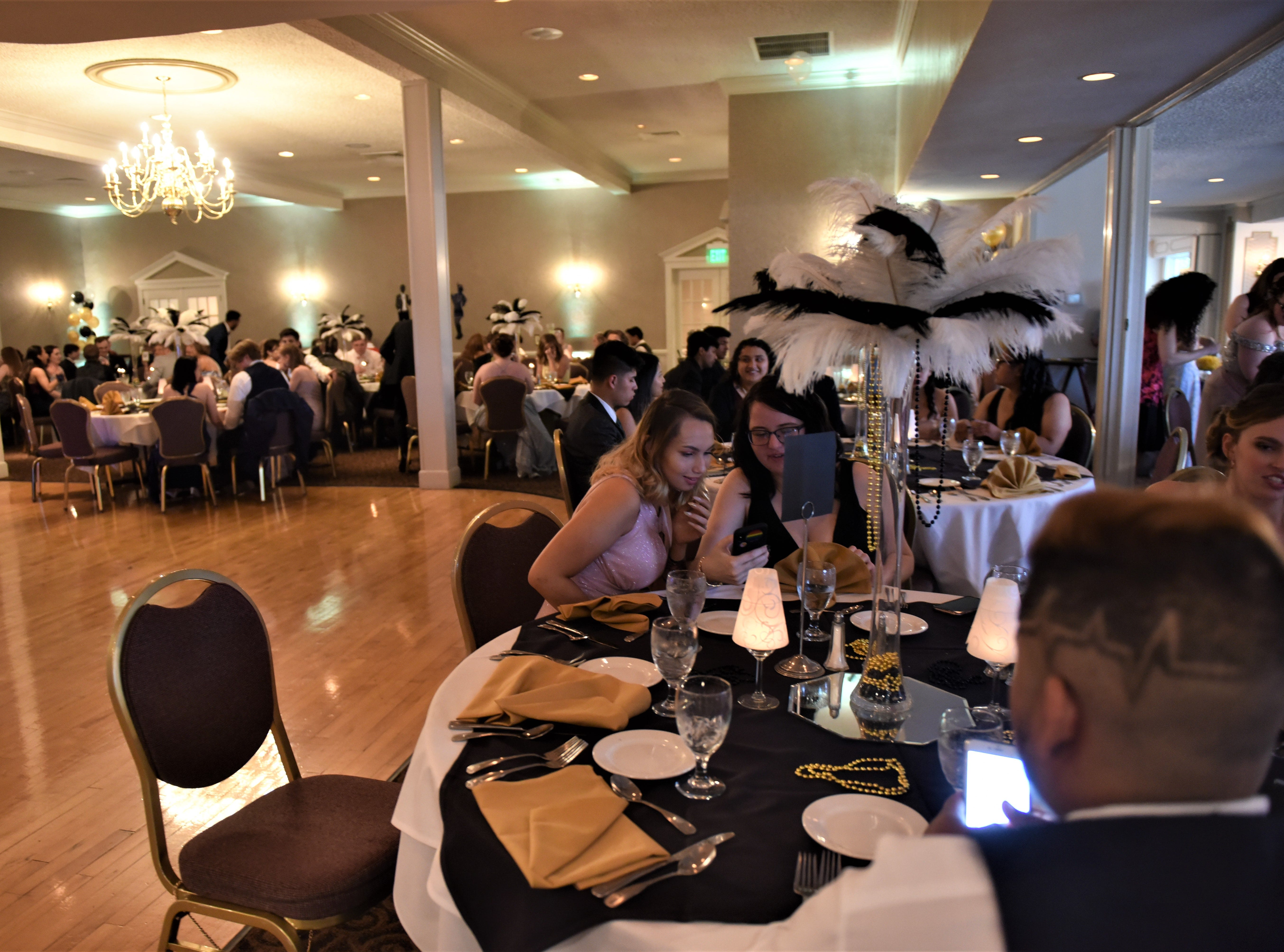 Hanover High School students at their '20s-themed prom night at the Hanover Country Club in Abbottstown on May 3, 2019.