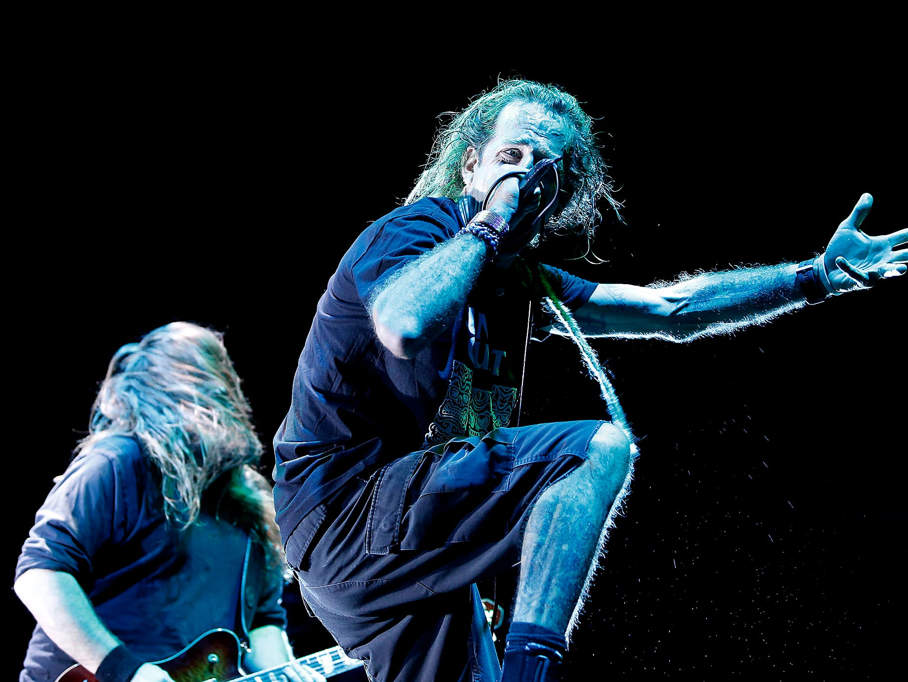 Lamb of God opens for Slayer during their performance at Ak-Chin Pavilion in Phoenix on May 2, 2019.