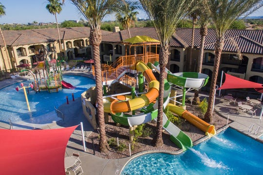 Get ready to splash around at Holiday Inn Club Vacations Scottsdale Resort's outdoor waterpark.