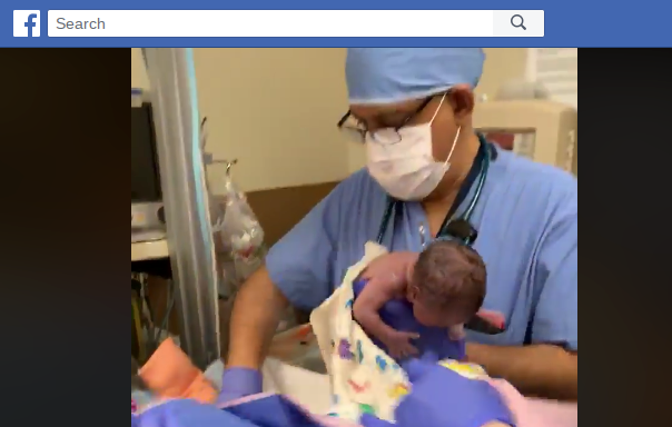 Monique Rodgers on May 1, 2019, shared a video that she says shows Chandler Regional Medical Center staffers dropping her newborn girl on her head in February 2019.