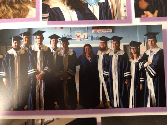 Thomas Dewald is pictured at far right in this photo from the Millville high school yearbook.