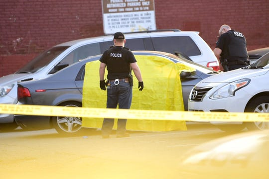 The body of Antonio Garcia, 27, was found in a parking lot across the street from William Penn Senior High School on Thursday night. Police believe Garcia was shot nearby and transported to the site.