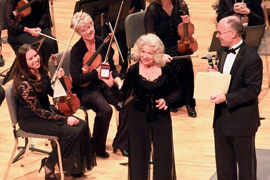 Carol Laube is second from left at Marilyn Sevilla's retirement concert from the Reno Chamber Orchestra earlier this year.
