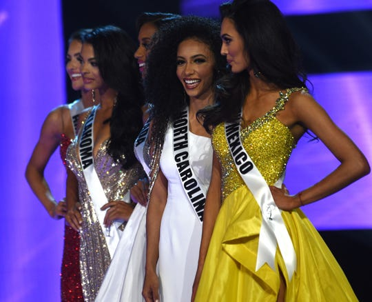 Miss North Carolina Chelsie Kryst wins the 2019 Miss USA final competition in the Grand Theatre in the Grand Sierra Resort in Reno on May 2, 2019.