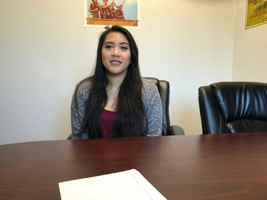 Samantha Gutierrez was discharged from the Marines in December and entered the nursing program at Simpson University in January. She's at their on-campus center for veterans nearly every day.