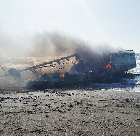 64-foot fishing boat catches fire off Oregon coast south of Bandon