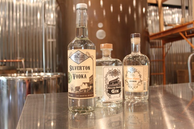 Award-winning Silverton Vodka, Gallon House Gin, Üla Orange Liqueur at Abiqua Spirit Distillery in Silverton, pictured on May 1, 2019.