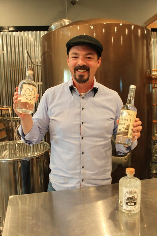 Adam Messick, distillery co-founder, at Abiqua Spirit Distillery in Silverton, pictured on May 1, 2019.