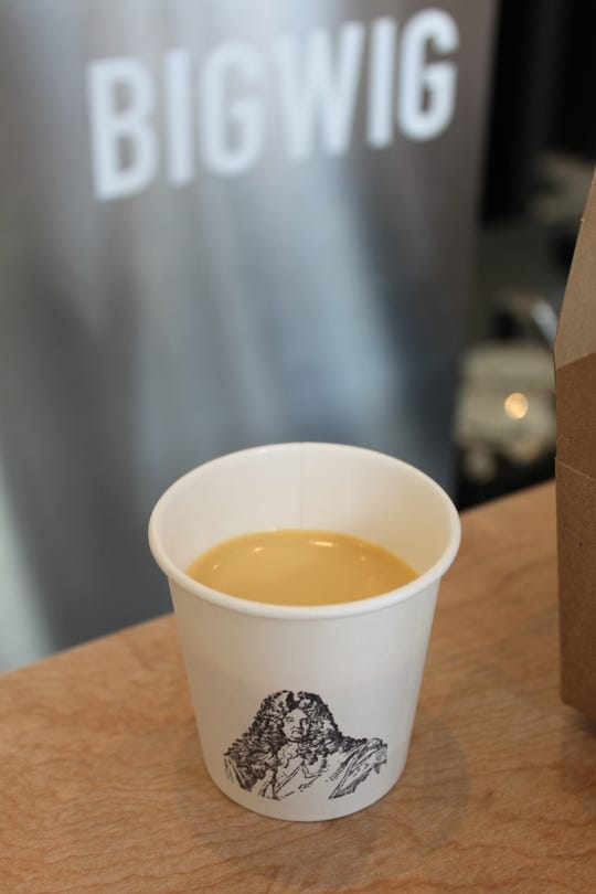 Nitro espresso at Bigwig Donuts, pictured on May 3, 2019. Nitrogen-charged double strength cold-brewed espresso is citrusy and creamy.