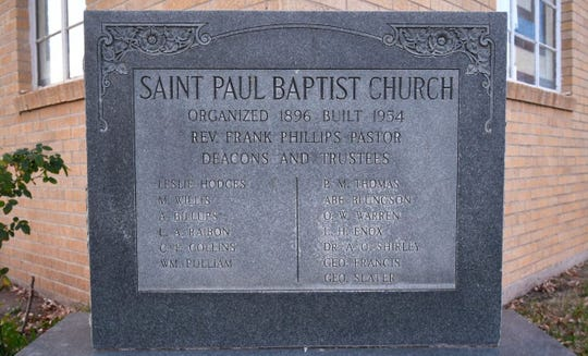 The first worship service at the newly constructed St. Paul Baptist Church was held there on Aug. 24.