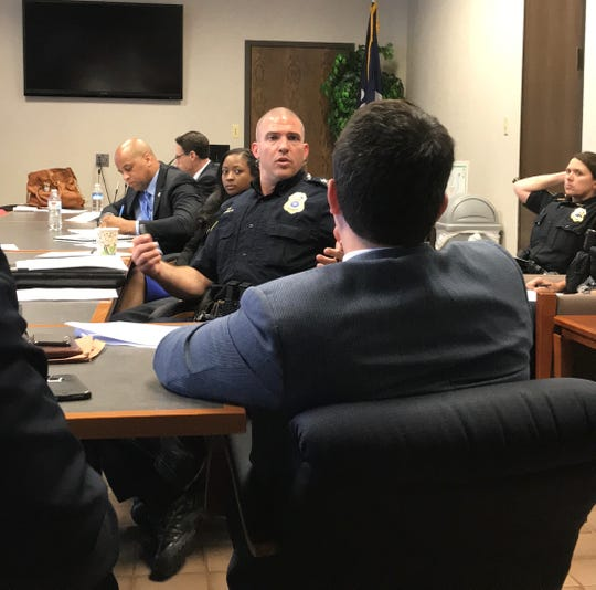 Shreveport Police Chief Ben Raymond at a Public Safety Commission meeting Thursday, May 3, 2019.
