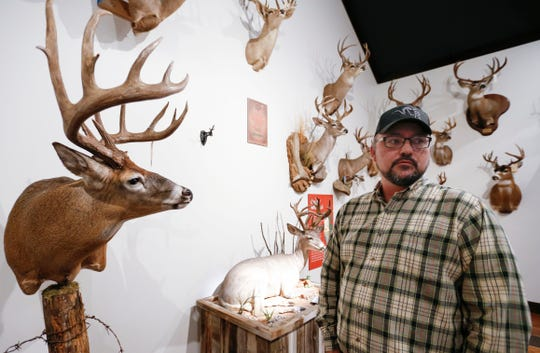 Justin Spring, director of Big Game Records for the Boone and Crockett Club, talks about one of the top five record deer that was taken in Missouri that will be on display at Bass Pro Shops in Springfield from Saturday until Aug. 4th.