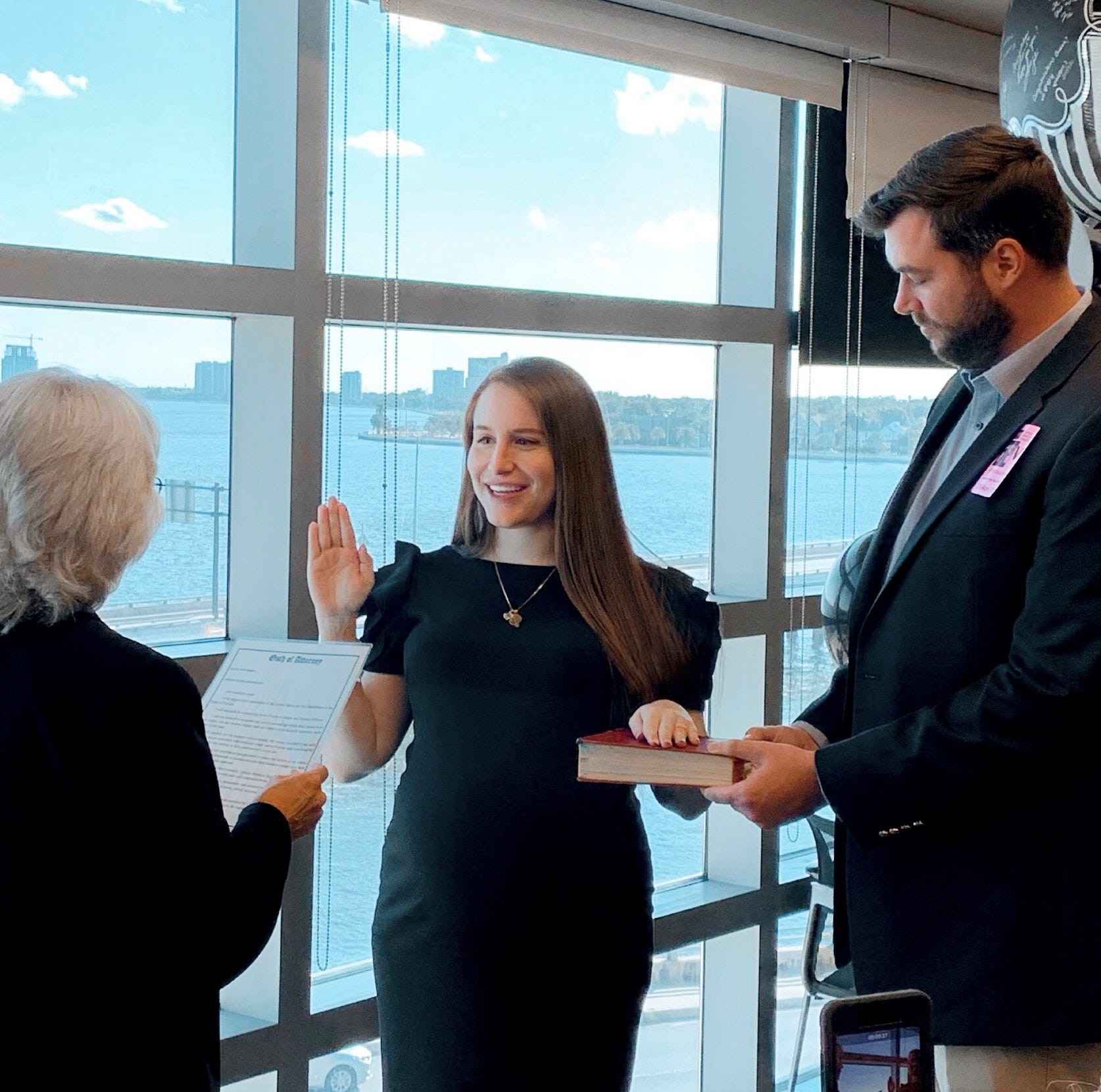 Facing high-risk pregnancy, FSU College of Law grad passes Bar, sworn in at Tampa hospital