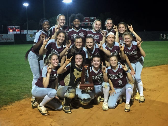 Chiles' softball team won a District 2-8A title on Thursday night, beating Lincoln 3-0. Dani Bauer struck out 17 batters and allowed just two hits.