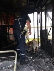 A Port St. Lucie home caught on fire Thursday night after lightning struck the back of the home.