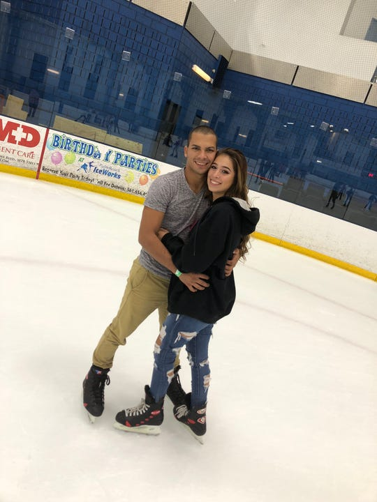 Brian Santos (left) and his girlfriend, Jailene Echevarria (right.) The two planned to have a home and have children one day together. Santos died Wednesday after a car crash.