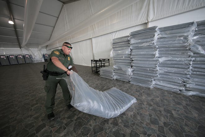 The U.S. Border Patrol completed construction on their 500-bed migrant shelter at their Hondo Pass Station in El Paso. Agents believe the shelter will allow them to process migrants more efficiently.