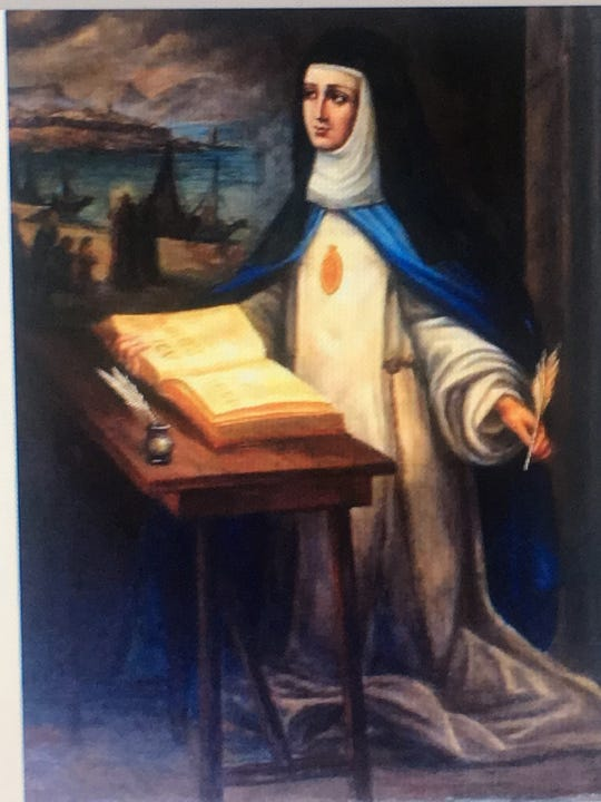 Sor María de Ágreda is considered to have brought Christianity to thousands of Native Americans.