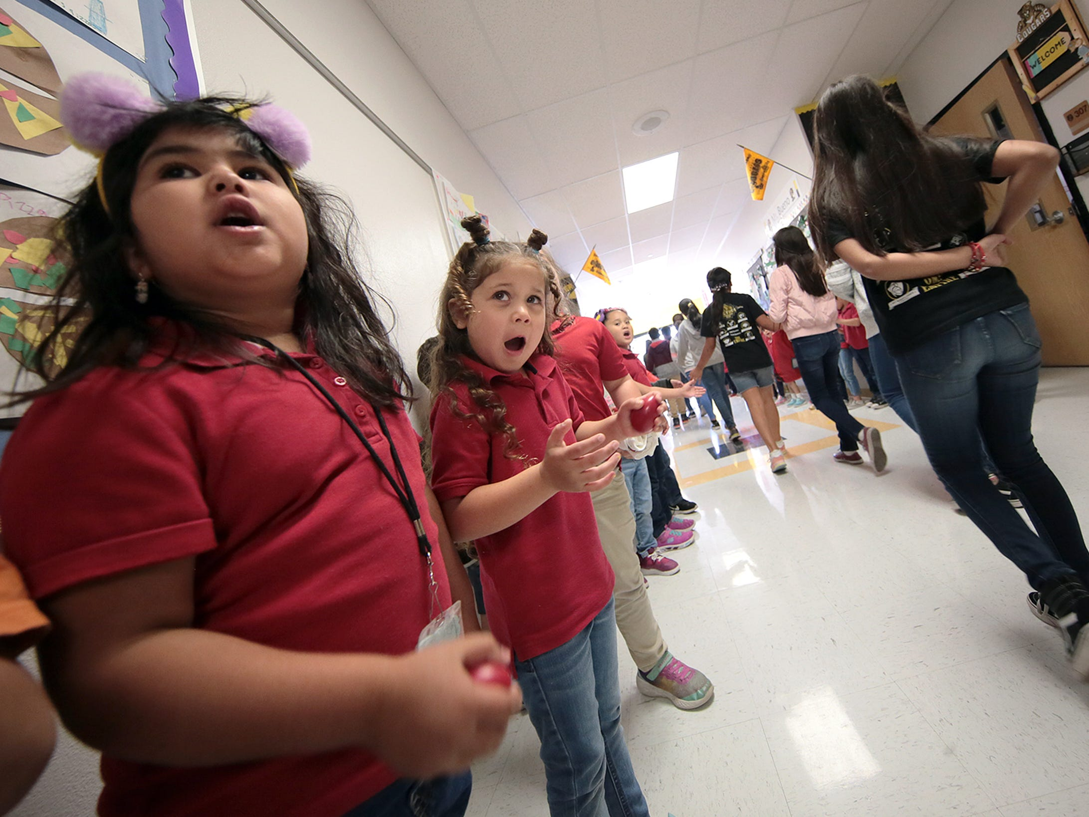 Hurshel Antwine Elementary School held a STAAR test rally and parade Friday to help students destress ahead of the grueling test.